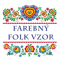 Farebný folk vzor