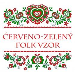 Červeno - zelený folk vzor